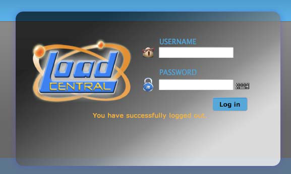 Load Central Webtool Login Page