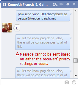 Kenneth Francis E. Galang - Scammer - Blocked in Facebook