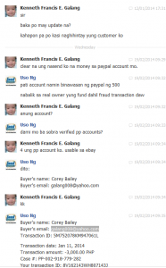 Kenneth Francis E. Galang - Scammer - Last message in Facebook