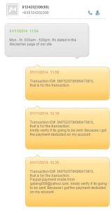 Kenneth Francis E. Galang - Scammer - Text Communication
