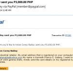 Kenneth Francis E. Galang - Payment via Paypal