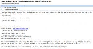 Kenneth Francis E. Galang - Paypal Security Alert