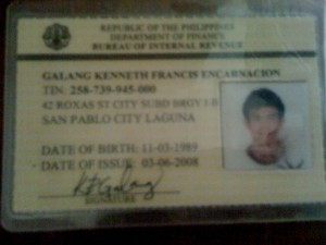 Kenneth Francis E. Galang - Scanned TIN ID