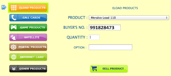 How to sell Meralco Kuryent load via Webtool