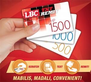 LBC Txt Remit card denominations