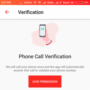 DENT phone call verification