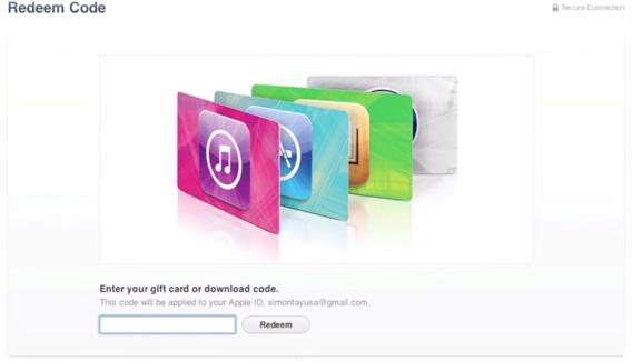 iTunes Redeem Code